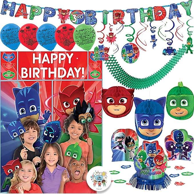 Amazon.com: Máscaras de PJ para decoración de fiesta de ...