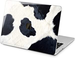 "Cavka Hard Shell Case for Apple MacBook Pro 13"" 2019 15"" 2018 Air 13"" 2020 Retina 2015 Mac 11"" Mac 12"" Design Pattern Nice Print Decorated Animal White Black Cover Protective Plastic Cow Laptop Cute"