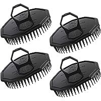 4pcs Men Scalp Shampoo Brushes, Segbeauty Hair Scalp Massager Shampoo Comb with Soft Pins Detangling Brush Anti-dandruff Thin Thick Wet Dry Hair Washing Comb for Pets Men and Women