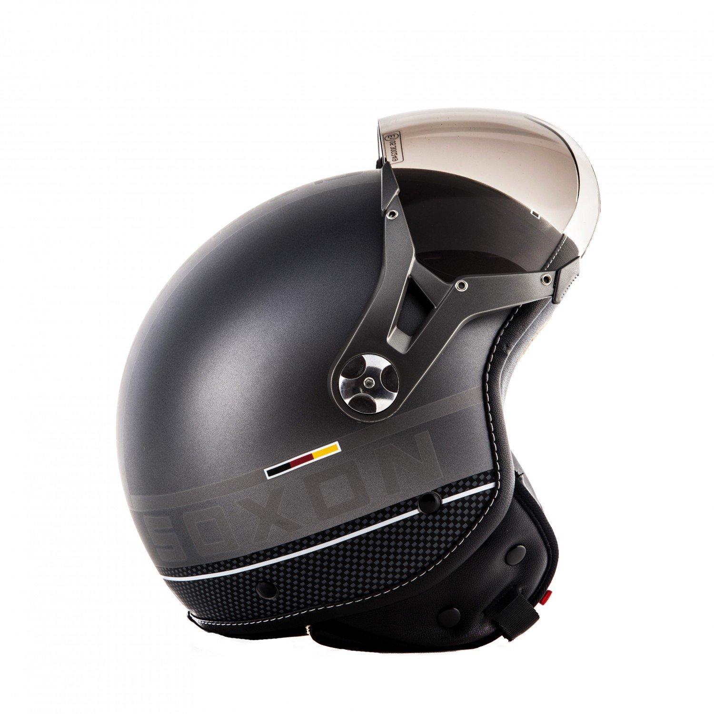SOXON SP-325-PLUS Yellow /· Scooter Helmet Vintage Moto motocicleta Cruiser Retro Casco Demi-Jet Chopper Urbano Mofa Biker Piloto Urban Bobber Vespa /· ECE certificado /· incluyendo parasol /· incluyendo bolsa de casco /· Amar