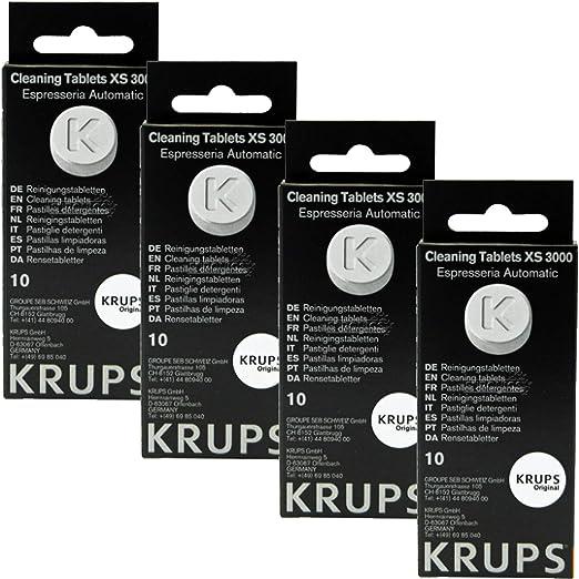 Krups XS300010 - Pastillas de limpieza para cafetera espresso ...