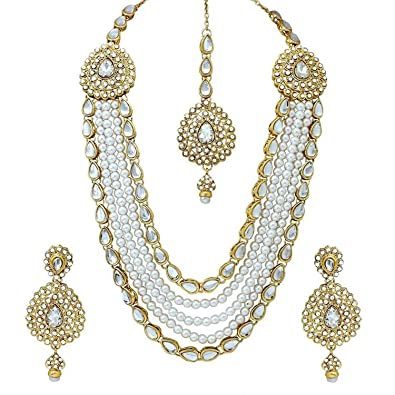 b14aa58131672 Buy Boutique Shop Gold & Silver Brass Jewellery Sets for Women (BO ...