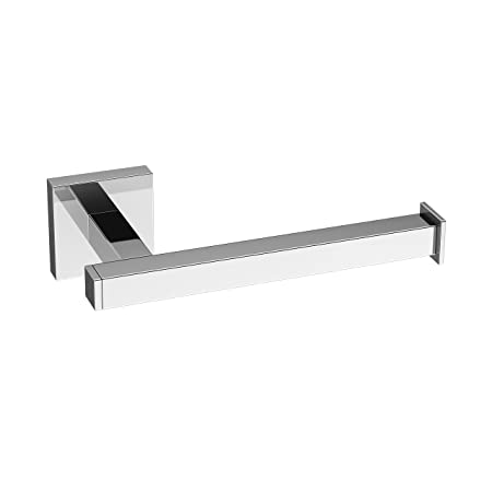 Modern Chrome Toilet Roll Holder Wall Mounted Square Bathroom