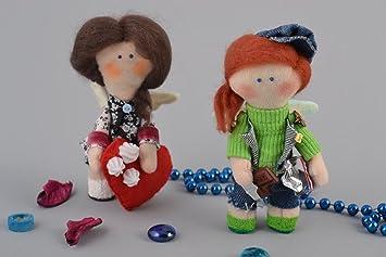Conjunto de munecas de peluche de fieltro para interior juguetes artesanales