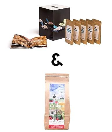 TRY Salz & Brot Geschenkset I Gourmet Geschenk zum Umzug, Einzug, Hauskauf  oder Hausbau I Ideales Einweihungsgeschenk für das neue Zuhause I ...