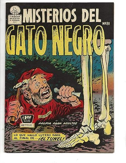 Amazon.com: Misterios Del Gato Negro #31 1955 Spanish Black ...