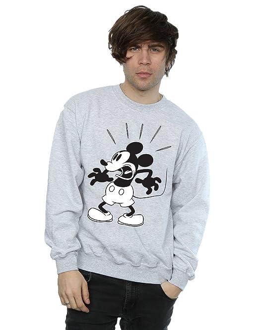 Disney hombre Mickey Mouse Scared Camisa De Entrenamiento: Amazon.es: Ropa y accesorios
