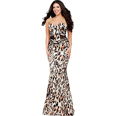 Jovani Animal Print Strapless Formal Dress at Amazon Women s Clothing store  1bdc86218