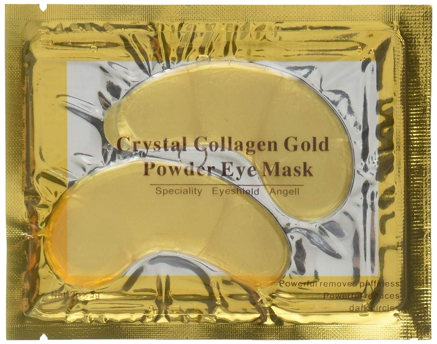 100 Crystal 24K Gold Powder Gel Collagen Eyes Masks Sheet Patch Anti Ageing Remove Bags Dark Circles & Puffiness Skin Care Anti Wrinkle Moisturising Hydrating by AICHUN BEAUTY