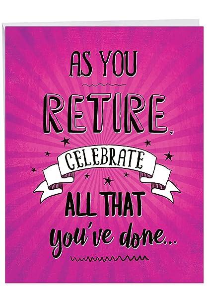 Tarjeta de jubilación de todos nosotros con sobre, con texto ...