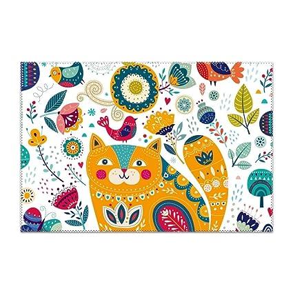 Tremendous Amazon Com Gpunfdvc Placemats For Dining Table Tribal Cat Download Free Architecture Designs Scobabritishbridgeorg