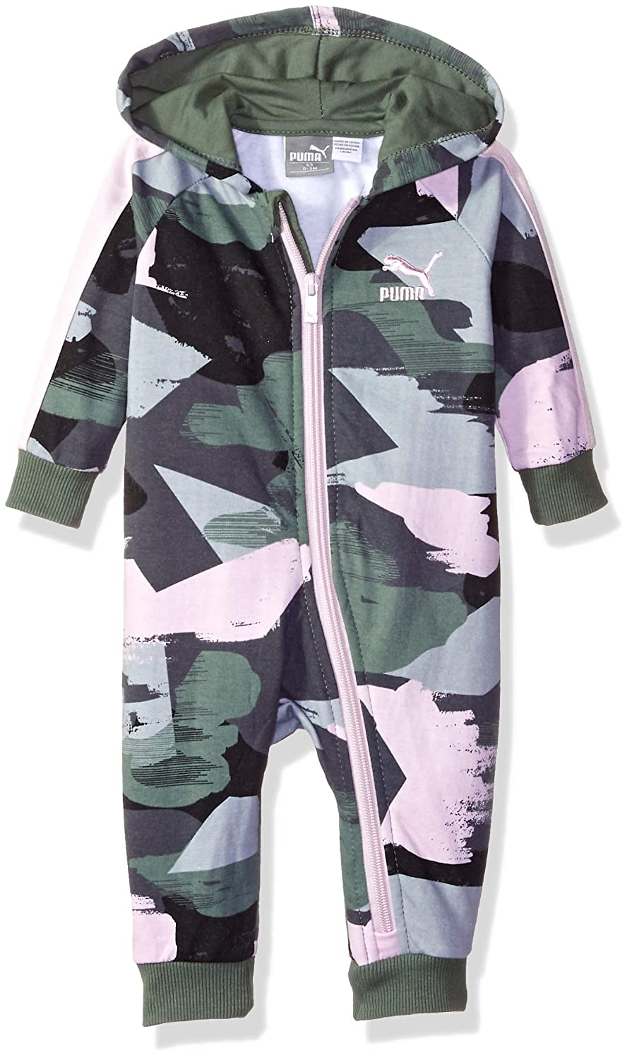PUMA Baby-Girls Girls' Fleece Pram Footie