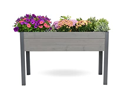 CedarCraft Elevated Spruce Planter 21x47x29 H (Gray)   Grow Fresh  Vegetables, Herb Gardens