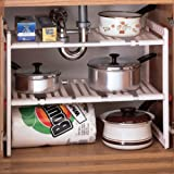 theBathMart Adjustable & Expandable Under Sink Storage Shelf
