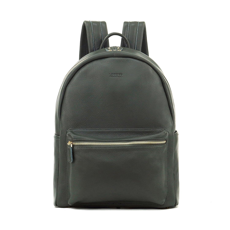 LOTUFF(ロトプ) 4 Color バックパック ビジネスバッグ デイパックLO-1380 タブレットPC バッグ メンズ レディース Leather Backpack [並行輸入品]  グレー B07F7R4SVM