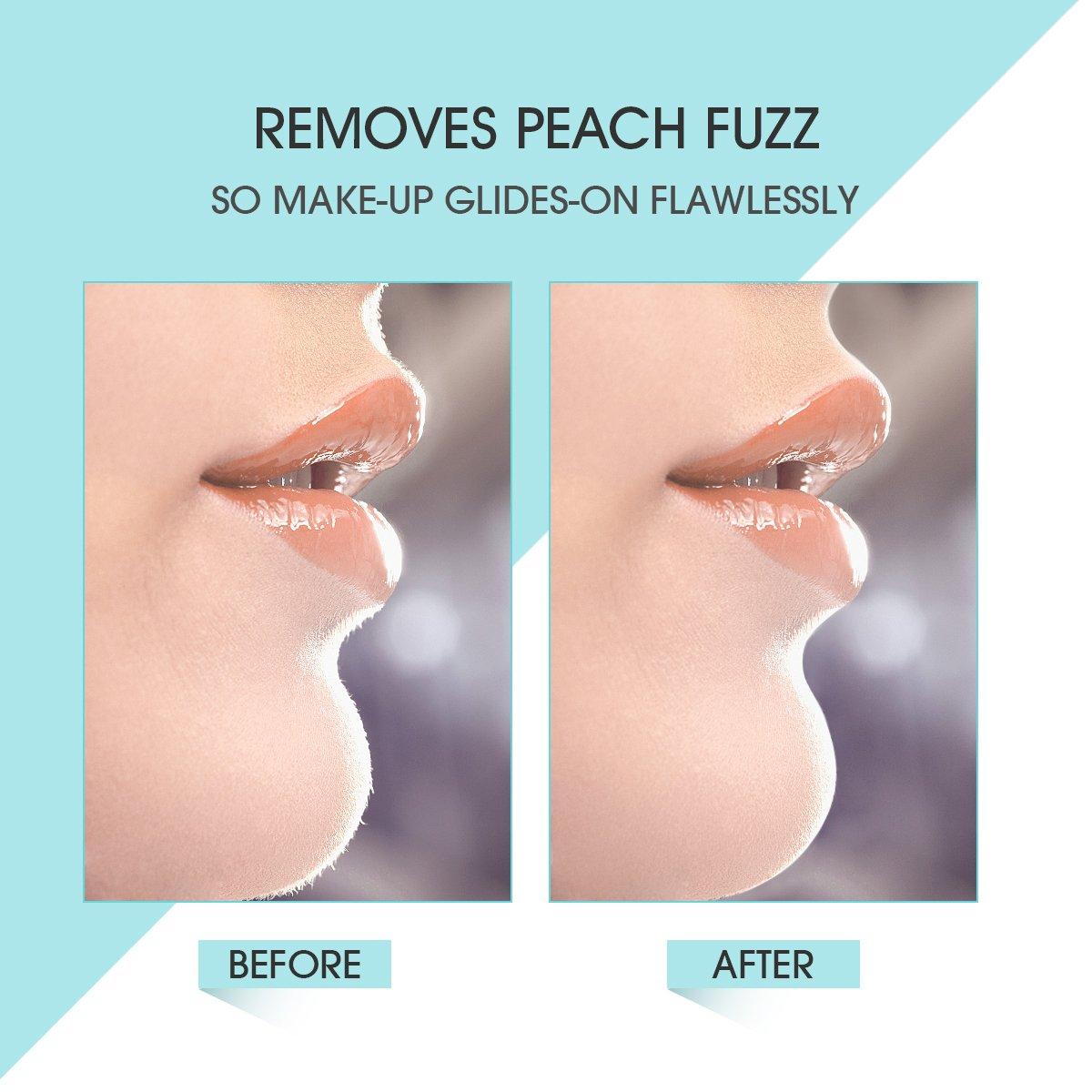 [3 in 1] Hangsun Facial Hair Removal for Women F130 Painless Face Epilator + Electric Eyebrow Trimmer + Bikini Hair Remover Precision Lady Shaver by Hangsun (Image #2)