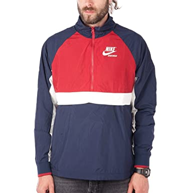 for whole family order online outlet store sale NIKE Half-Zip Woven Archive Mens Windbreaker Jacket (Medium ...