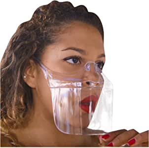 Transparent Shield Effective Clear Face_Masks,Lightweight Full Face Bandanas Visible Face Protection Breathable Reusable,No Need to Take Off can Drink and Eat