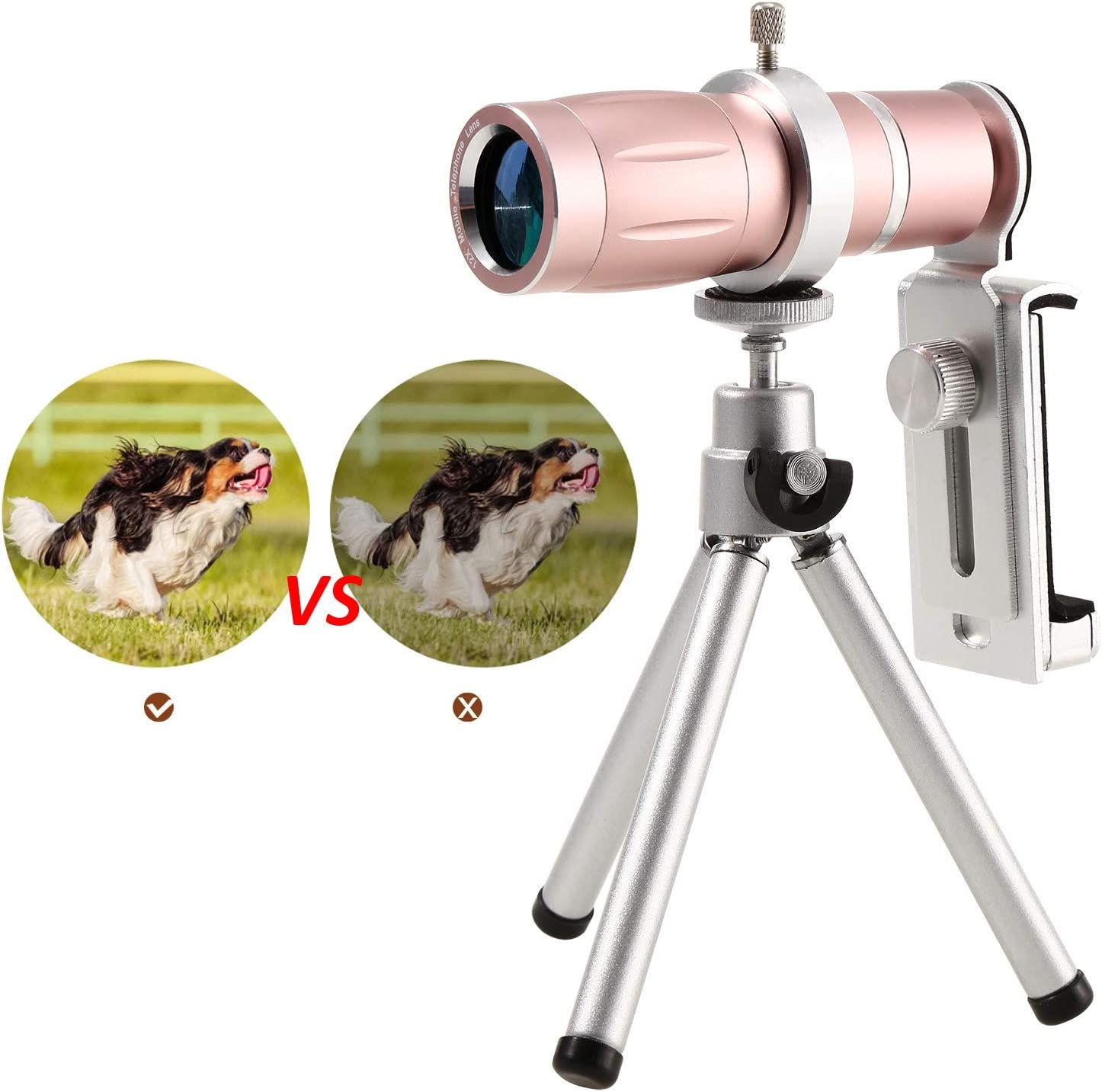 Meiifes Handy Objektiv Kamera Objektiv Universal 12x Zoom Teleobjektiv Fisheye Objektiv Objektiv Kamera Linse Kit Mini Erweiterbar Stativ Kameraobjektiv Set f/ür Smartphones A