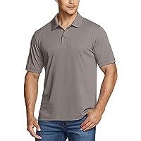 TSLA Men's Short Sleeve Polo Shirts, Regular fit Quick Dry Golf Shirts, Sports Performance Dri Flex Tech Solid Top…
