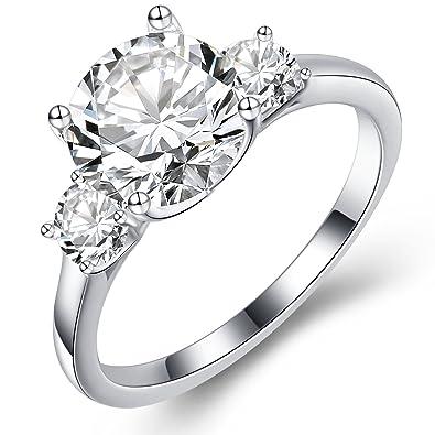 Damen-ring Verlobungsring 925 Sterlingsilber Zirkonia