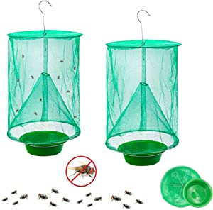 Convenientools Ranch Fly Trap The Most Effective Trap Ever Made with Food Bait Flay Catcher for Outdoor (2pcs)