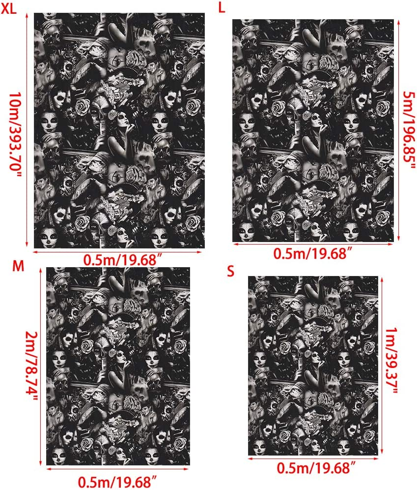 Hydrodip-Film f/ür Dekoration Large Viesky YS012 Hydrographischer Wassertransfer-Film