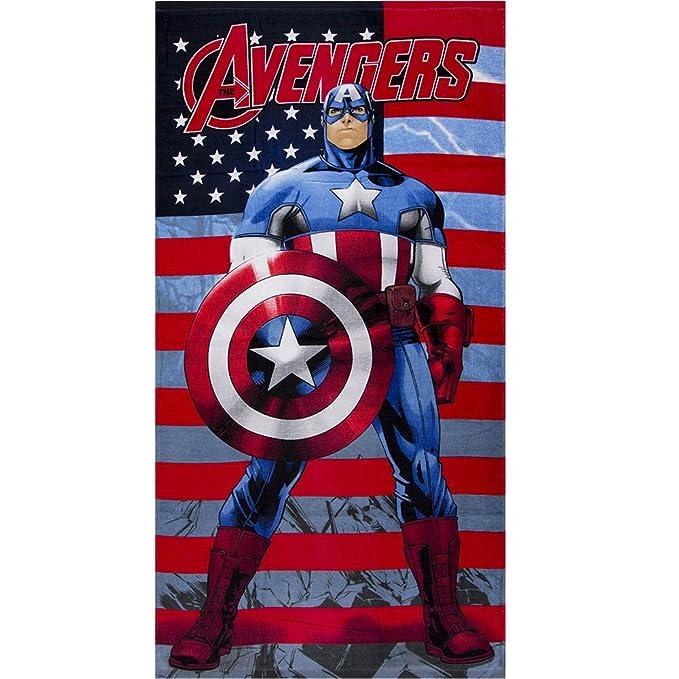 Avengers Toalla Playa Piscina Marvel Capitán América - 70 x 140 cm: Amazon.es: Ropa y accesorios