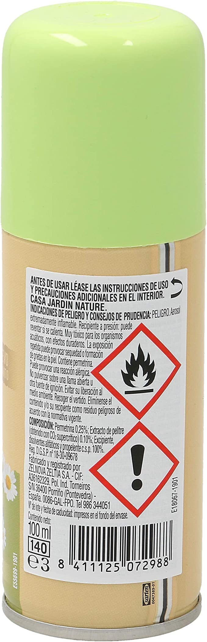 CASA JARDÍN insecticida nature spray 100 ml: Amazon.es: Hogar