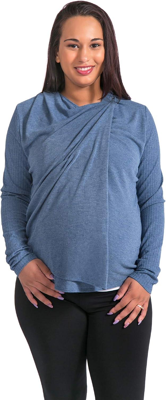 Open Front Wrap Cardigan for Women Maya Nursing Wrap
