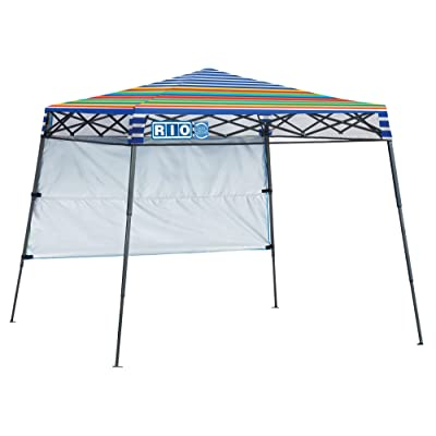 Rio Beach 7' x 7' Go Easy Slant Leg Pop-Up Beach Canopy - Surf Power Surfer: Sports & Outdoors