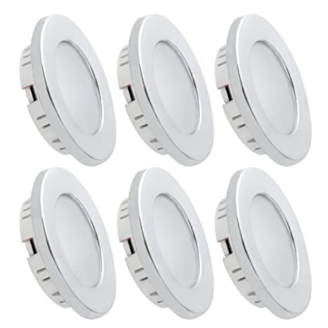Amazon dream lighting under cabinet led lighting 12 volt 2w dream lighting under cabinet led lighting 12 volt 2w cool white silver shell recessed downlights for aloadofball Images