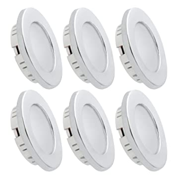Amazon dream lighting under cabinet led lighting 12 volt 2w dream lighting under cabinet led lighting 12 volt 2w cool white silver shell recessed downlights for aloadofball Choice Image