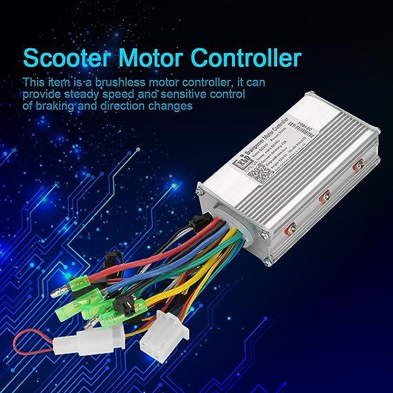 Amazon com : Electric Motor Controller, 24V 350W Brushless