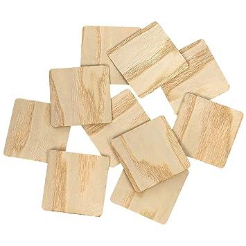 Echt Holz Furnier Quadrate Hell Holzscheiben 1 10cm Streudeko