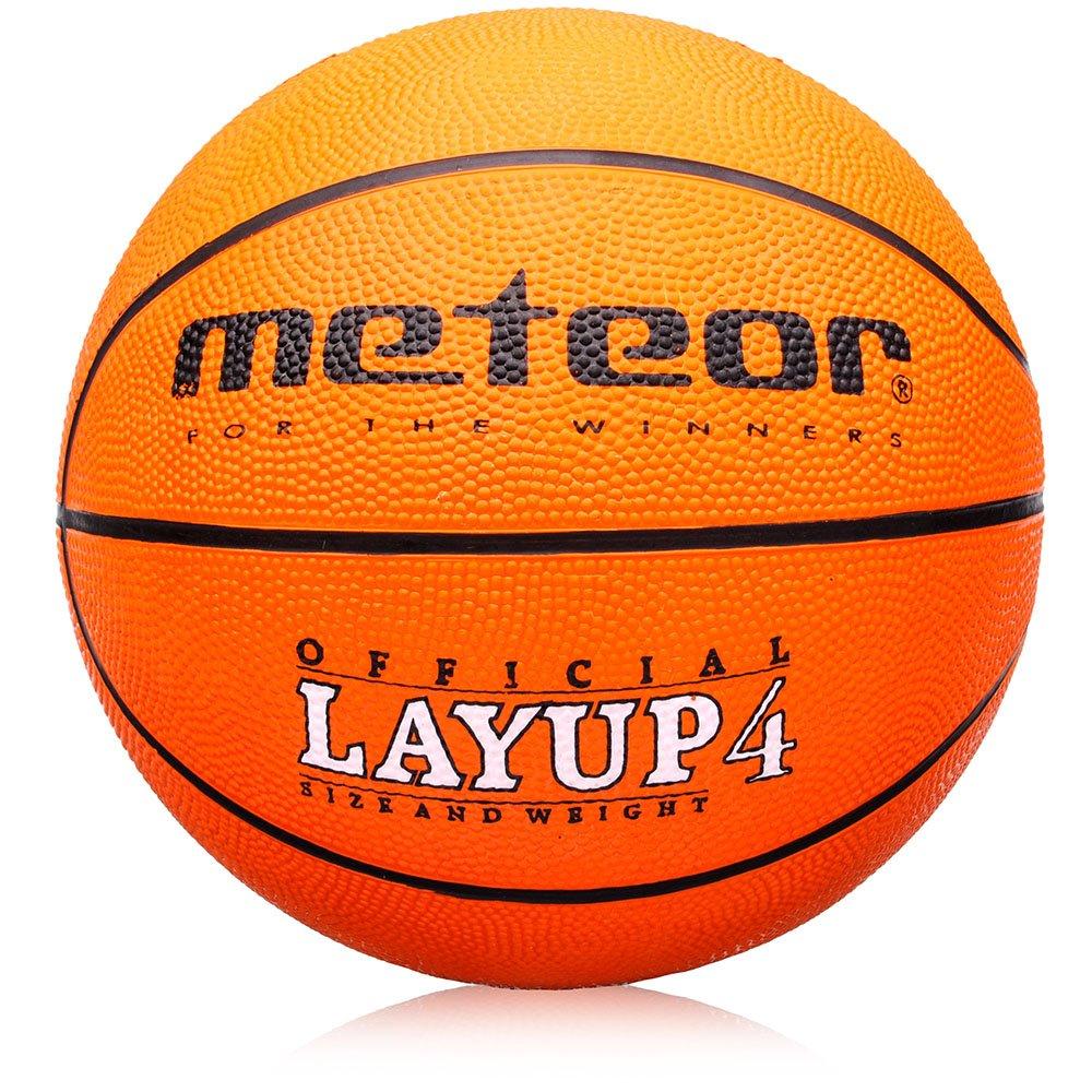 meteor Enfants & Jeunesse Basketball – Taille #4 idéale sur Les Mains de bébé de 5 à 10 Ans Basket-Ball Idéal pour Formation/Doux Basket-Ball avec Surface griffiger (# 4) Layup Orange orange) markArtur
