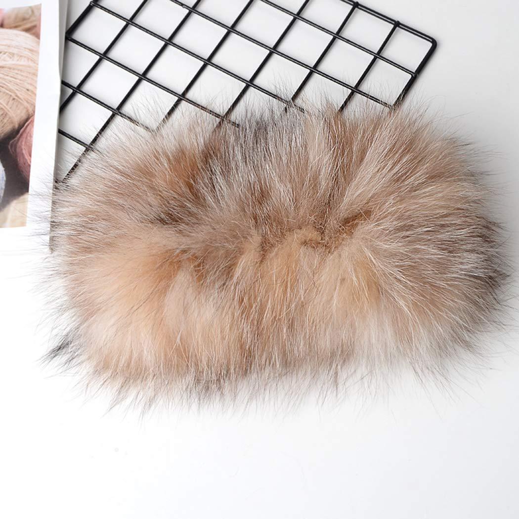 UMREN Winter Faux Fox Fur Headband Scarf Earwarmer Russian Cossack Style Hat Headwrap