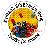 "Eternal Design 35 x 37mm Personalised Glossy Kids Birthday Party ""Thanks for Coming"" White Stickers KBCS 161"