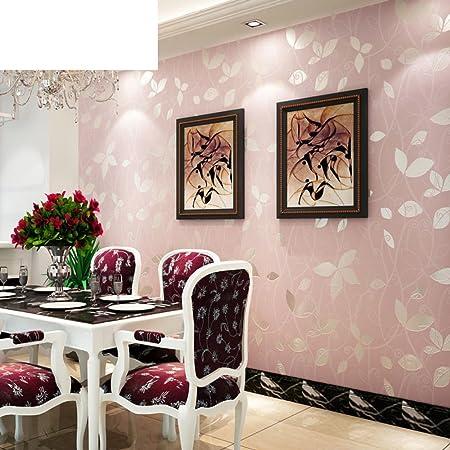 Wallpaper Non Woven Cloth Simple Modern Pink Bedroom Living Room Garden