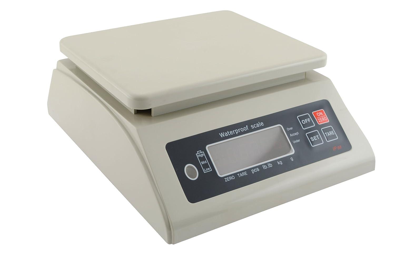 66 lb 7-1//2 x 9 Platform Vestil PTDSC-66 Plastic Waterproof Scale Capacity