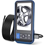 Teslong Inspection Camera, 8MM Dual Lens 4.5 inches IPS Screen Endoscope-Borescope with 32GB Card, 16.4ft Waterproof…