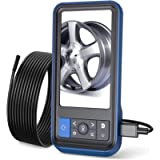 Teslong Inspection Camera, 8MM Dual Lens 4.5 inches Screen Endoscope-Borescope with 32GB Card, 16.4ft Waterproof Cable…