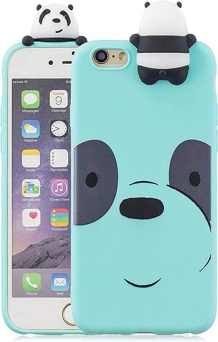 Yobby Cover per iPhone 6,Cover iPhone 6S,Carino 3D Cartoon Animali Sottile Opaca Silicone Morbide Gomma Gel Custodia,Cover Bambina Ragazza Belle ...