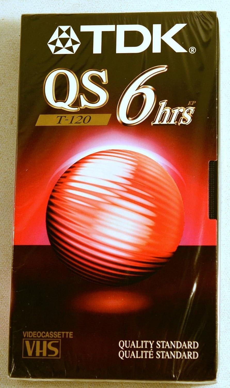 TDK VHS Video Tape T-120 QS Quality Standard 6hrs 5 Pack TDK Media