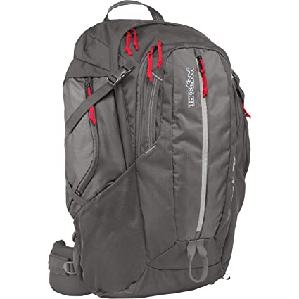 Amazon.com: JanSport Equinox 40L Backpack Forge Grey/Red Tape, One Size: Sports & Outdoors