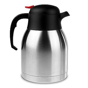 Edelstahl-Kaffeekanne - 1,5 Liter Isolier Thermo Kanne für heiße ...
