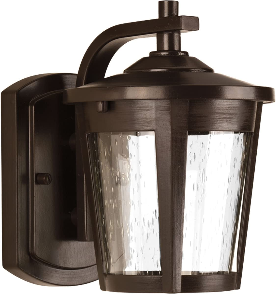 Progress Lighting P6077-2030K9 Transitional One Light Wall Lantern from East Haven Led Collection Dark Finish, Antique Bronze