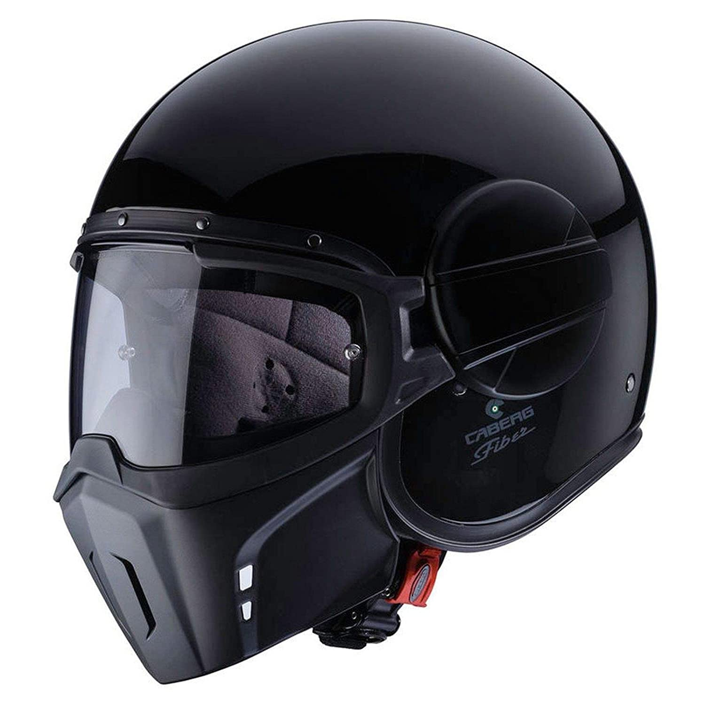 Caberg Ghost Motorrad Jet Helm Schwarz Pinlock Visier Maske Chopper Fiberglas ECE22-05, C4FA0072, Größe XS: Amazon.es: Coche y moto
