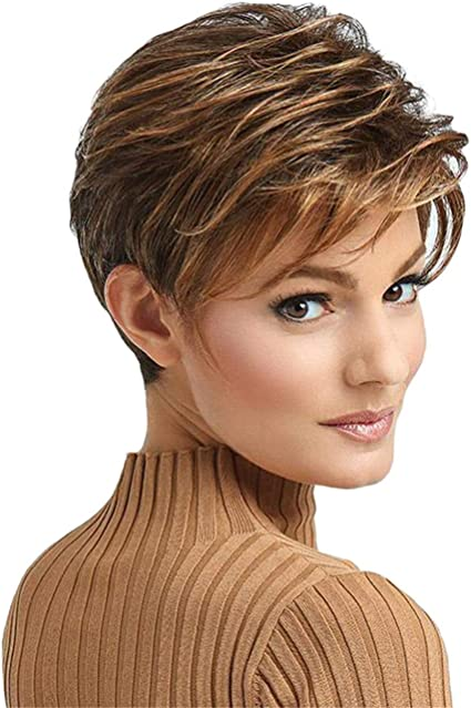 non include Headwear Starall donne corti Bob parrucche naturali capelli ragazza Cosplay Daily party sintetica