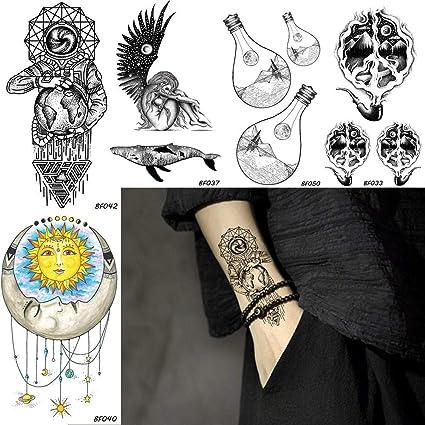 KAMRL Tatuaje Falso Tatuaje Hombres Galaxy Stars Astronauta ...
